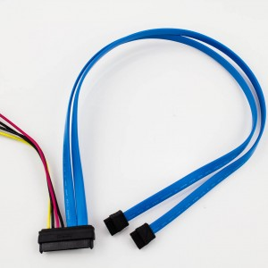Amphenol 29p SAS to 2 x SATA LP4 Power Cable