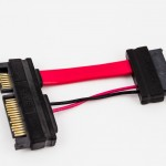 Amphenol Slim SATA Female to 22p SATA Male Power