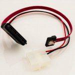 Micro SATA to SATA LP4 Power Cable