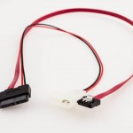 Slim SATA to SATA Latch LP4 Power