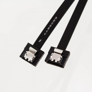 Mini-SATA3 Cable (Straight to Straight with Latch) Black