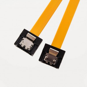 Mini-SATA Cable (Straight to Straight with Latch) Yellow