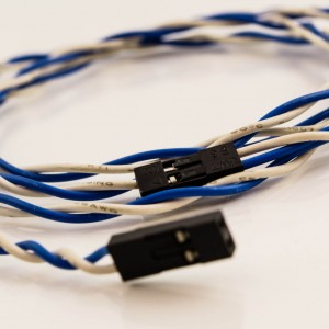 Jumper Wires 2p Female to 2p Female Blue/White (Reset)