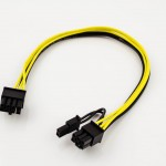PCI-Express 8p Female to 6p Female + 2p Female Power Adapter Cable