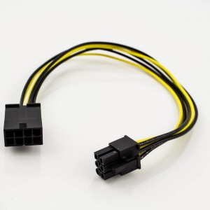PCI-Express 8p Male to 6p Female Power Adapter Cable