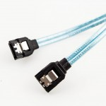 Amphenol SATA3 26 AWG Cable (Straight to Straight with Latch)