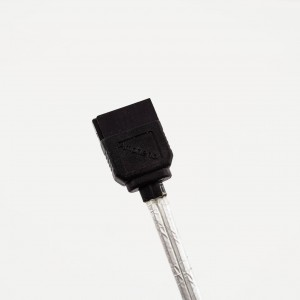 Amphenol SATA3 30 AWG Cable (Straight to Left Angle with Latch)