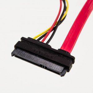 Amphenol 7p SATA to 22p SATA + LP4 Power Cable