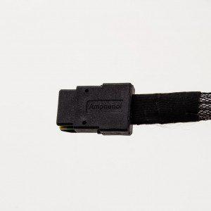 Amphenol 36-pin Internal Mini-SAS to 4 x 7-pin SATA without Latch Step Length Cable