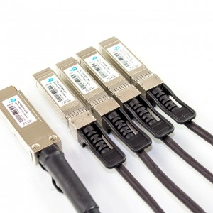 Direct Attach Copper (DAC) Cable - Rapide™ 100G QSFP28 to 4xSFP28 Breakout Passive Twinax Cable