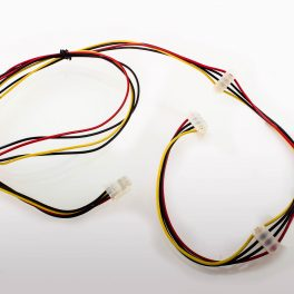 ATX Power Cable 4p Female Daisy Chained 2 x 4p Female RA