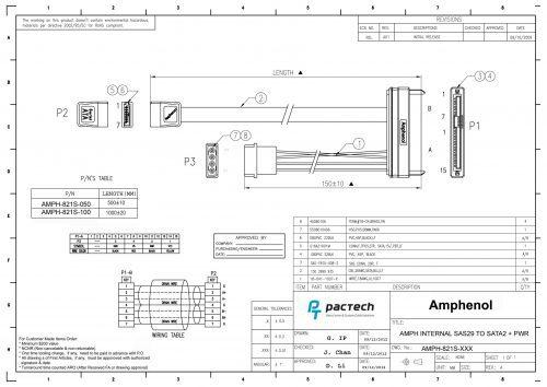 Amphenol 29p SAS to SATA LP4 Power Cable(sent out)