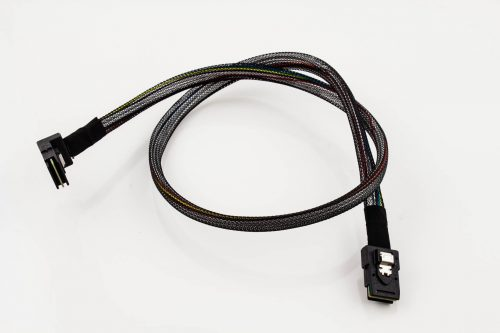 Amphenol Mini-SAS Straght-to-Right-Angled w/ Sidebands Cable