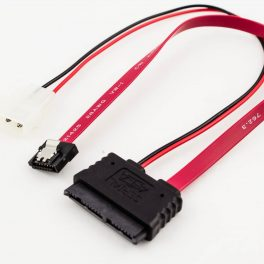 Amphenol Micro SATA to SATA Latch LP4 Power