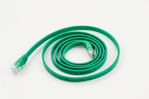 CAT6 28AWG Flat Cable – SuperFlat Standard UTP Green Cable