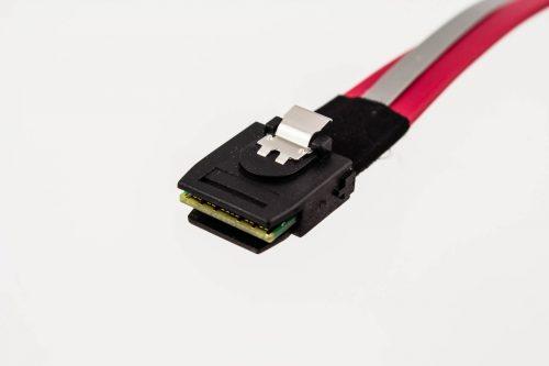 Slim Mini-SAS Straight to 4 x Mini-SATA Latch Sidebands Cable