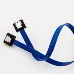 Mini-SATA Cable (Straight to Straight with Latch) Blue