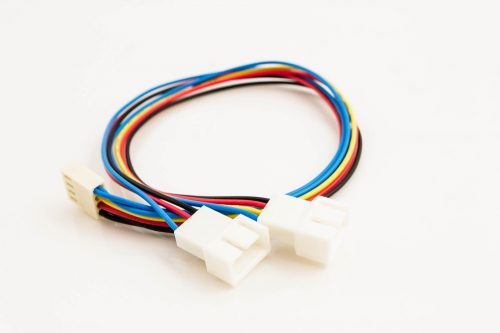 Fan Power Y-Cable 4p Female to 2 x 4p Male