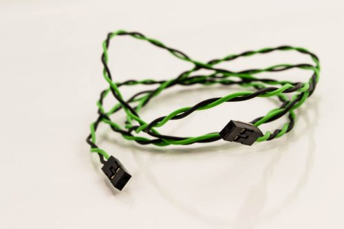 Jumper Wires 2p Female to 2p Female Green/Black (LED)