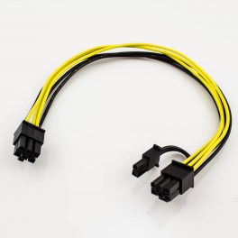 PCI-Express 6p Female to 6p Female + 2p Female Power Adapter Cable