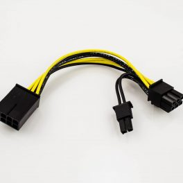 PCI-Express 8p Male to 6p Female + 2p Female Power Adapter Cable