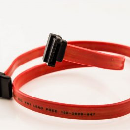 Amphenol SATA Cable (Right Angle to Right Angle without Latch)