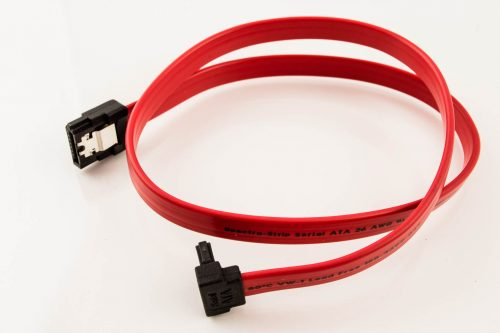Amphenol SATA Cable (Straight with Latch to Left Angle)