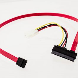Amphenol 7p SATA to 22p SATA + LP4 Power Cable