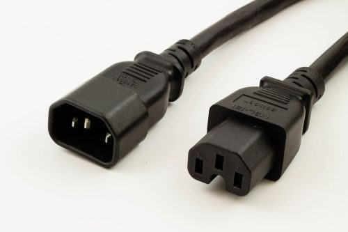 CPU/PDU Power Cord - IEC 60320 C14 to C15,15A/250V, 14AWG, SJT