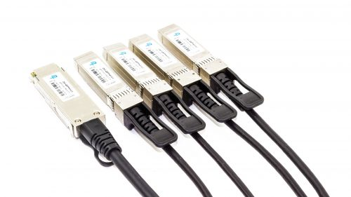 Direct Attach Copper (DAC) Cable – Rapide™ 40G QSFP+ to 4x SFP+ Breakout Passive Twinax Cable Connectors