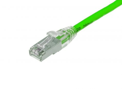 CAT6A 28AWG 10G Cable – FlexLite™ UFTP OD 5.0mm 500MHZ PVC Shrek Green