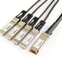 Direct Attach Copper (DAC) Cable – Rapide™ 100G QSFP28 to 4xSFP28 Breakout Passive Twinax Cable