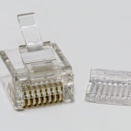 CAT6 UTP RJ45 Mini Plug for 28AWG Cable Front view
