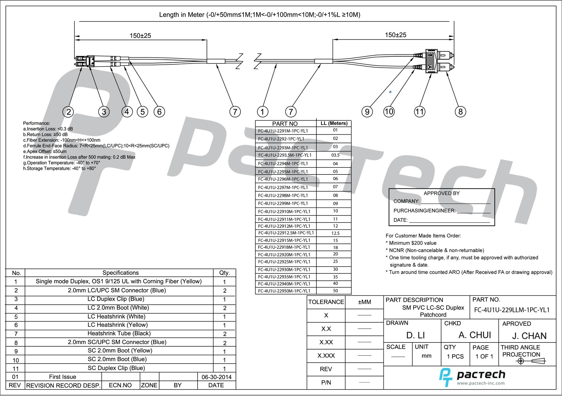 qualite u2122 os1 single mode 9  125  duplex lc  upc and sc  upc