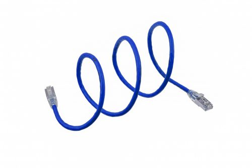 CAT6A 28AWG 10G Cable – FlexLite™ SFTP OD 5.4mm 600MHZ Soft PVC Blue