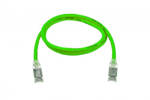 CAT6A 28AWG 10G Cable – FlexLite™ SFTP OD 5.4mm 600MHZ Soft PVC Shrek Green Cable
