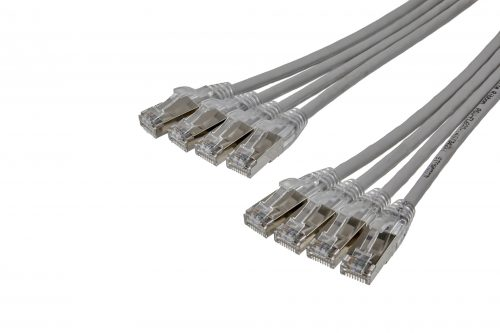 CAT6A 28AWG Ribbon x4 10G Cable – FlexLite™ UFTP OD 5.0mm 550MHZ LSZH Grey