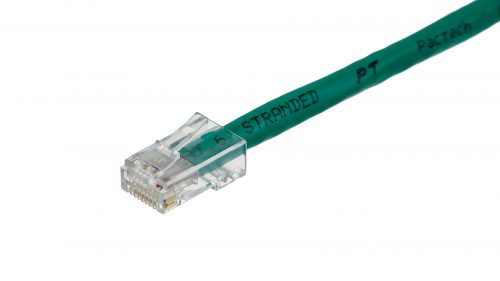 Clear RJ45 connectors CAT6 Cable – Round Non-Snagless UTP - Green