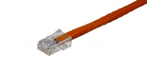 Clear RJ45 connectors CAT6 Cable – Round Non-Snagless UTP - Orange