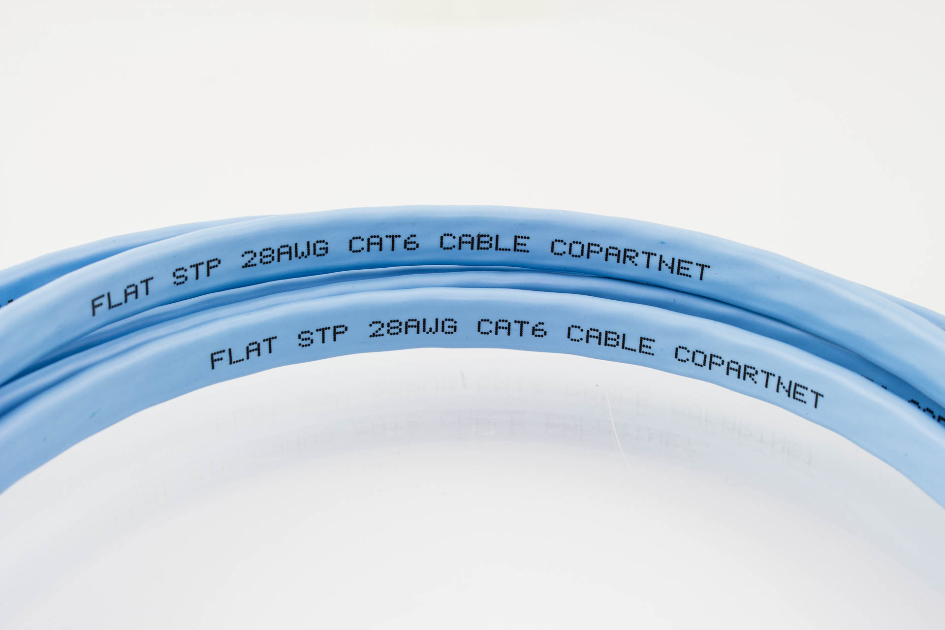 CAT6 28AWG Flat Cable - SuperFlat Shielded STP - Pactech