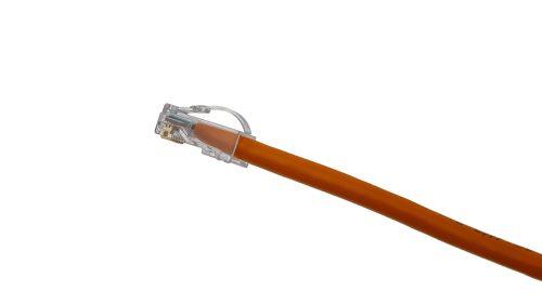 CAT5e Cable – Arch Latch Plug, Non-Snagless, Non Booted Orange