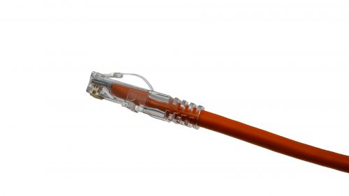 CAT5e Cable – Arch Latch Plug with Clear Boot Orange