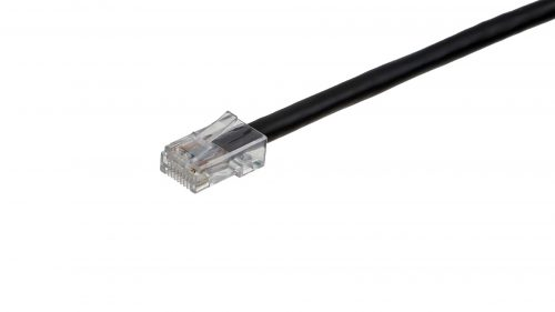 CAT5e Cable – Clear Plug, Non-Snagless, Non Booted Black
