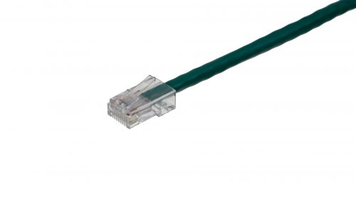 CAT5e Cable – Clear Plug, Non-Snagless, Non Booted Green