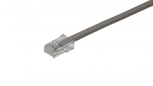 CAT5e Cable – Clear Plug, Non-Snagless, Non Booted Grey