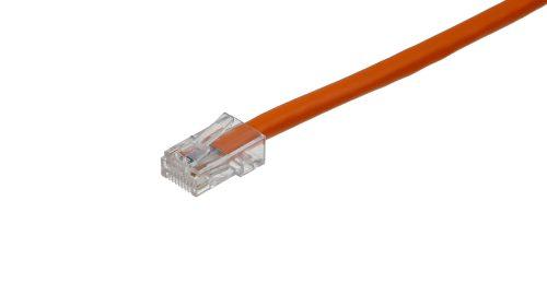 CAT5e Cable – Clear Plug, Non-Snagless, Non Booted Orange