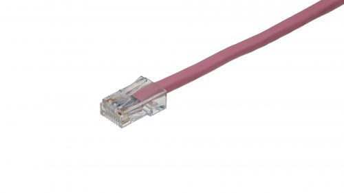 CAT5e Cable – Clear Plug, Non-Snagless, Non Booted Pink