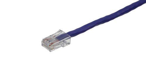 CAT5e Cable – Clear Plug, Non-Snagless, Non Booted Purple
