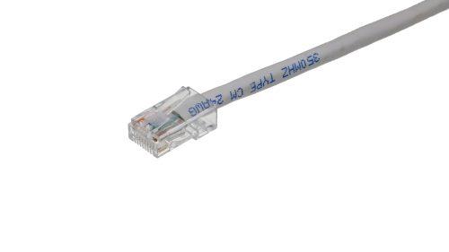 CAT5e Cable – Clear Plug, Non-Snagless, Non Booted White