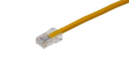 CAT5e Cable – Clear Plug, Non-Snagless, Non Booted Yellow